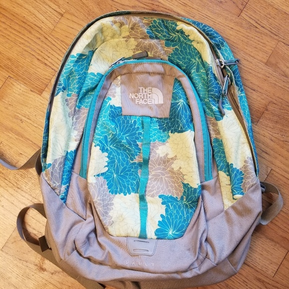 The North Face VAULT Backpack blue/green floral